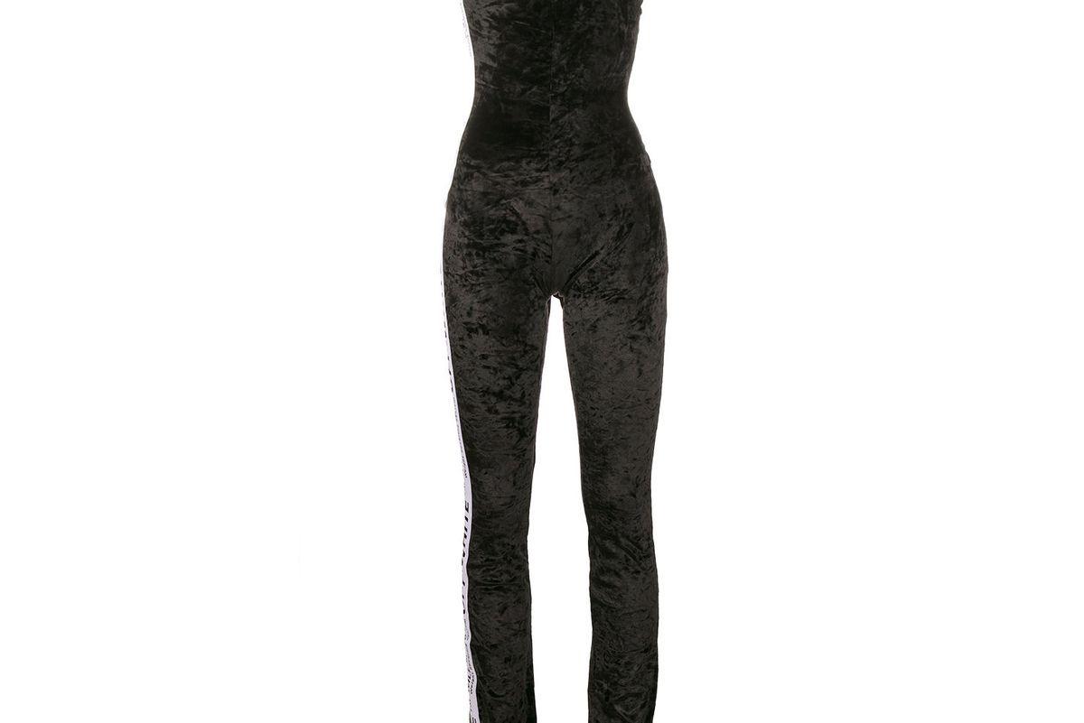 Sleeveless Velvet Jumpsuit