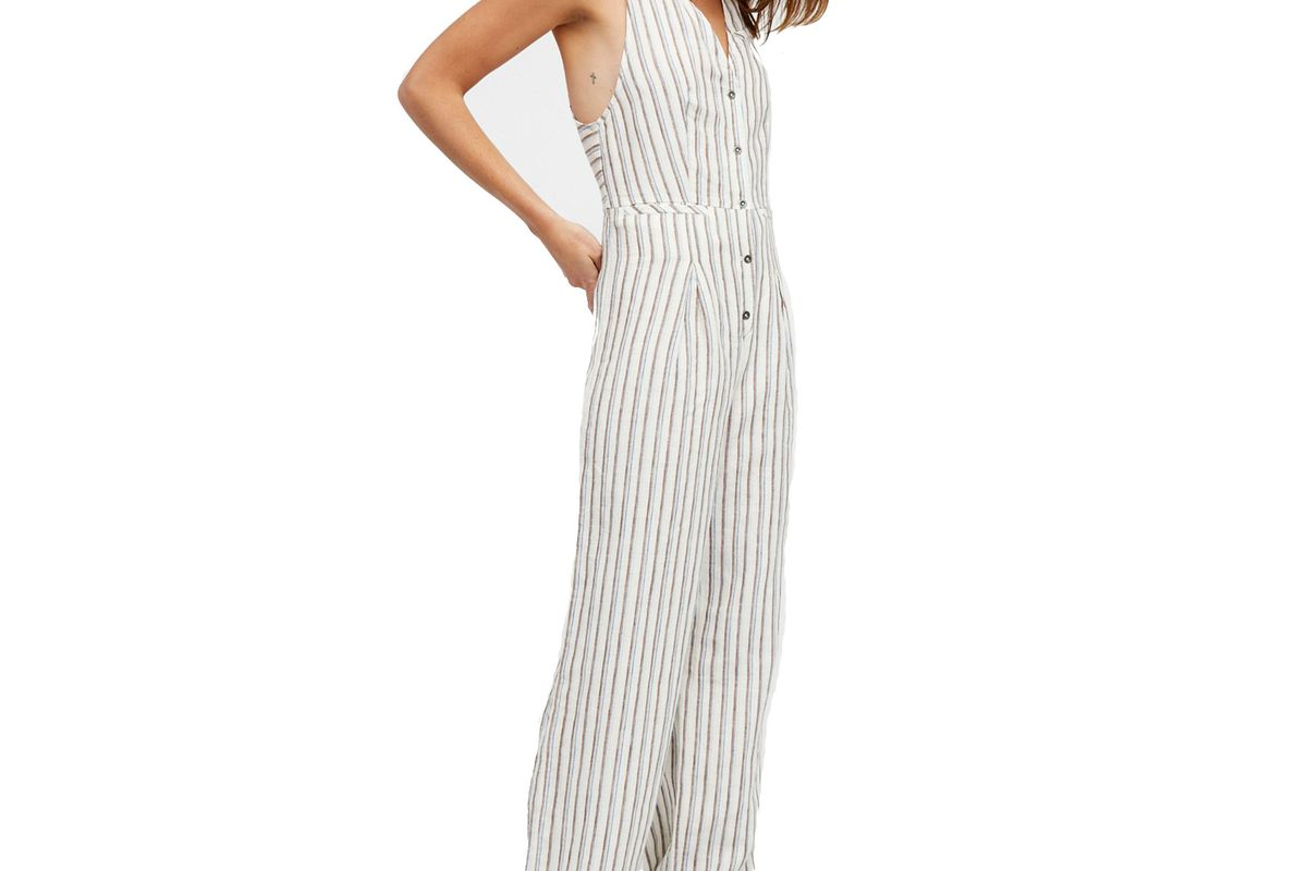 Fitted Vest One-Piece Jumpsuit