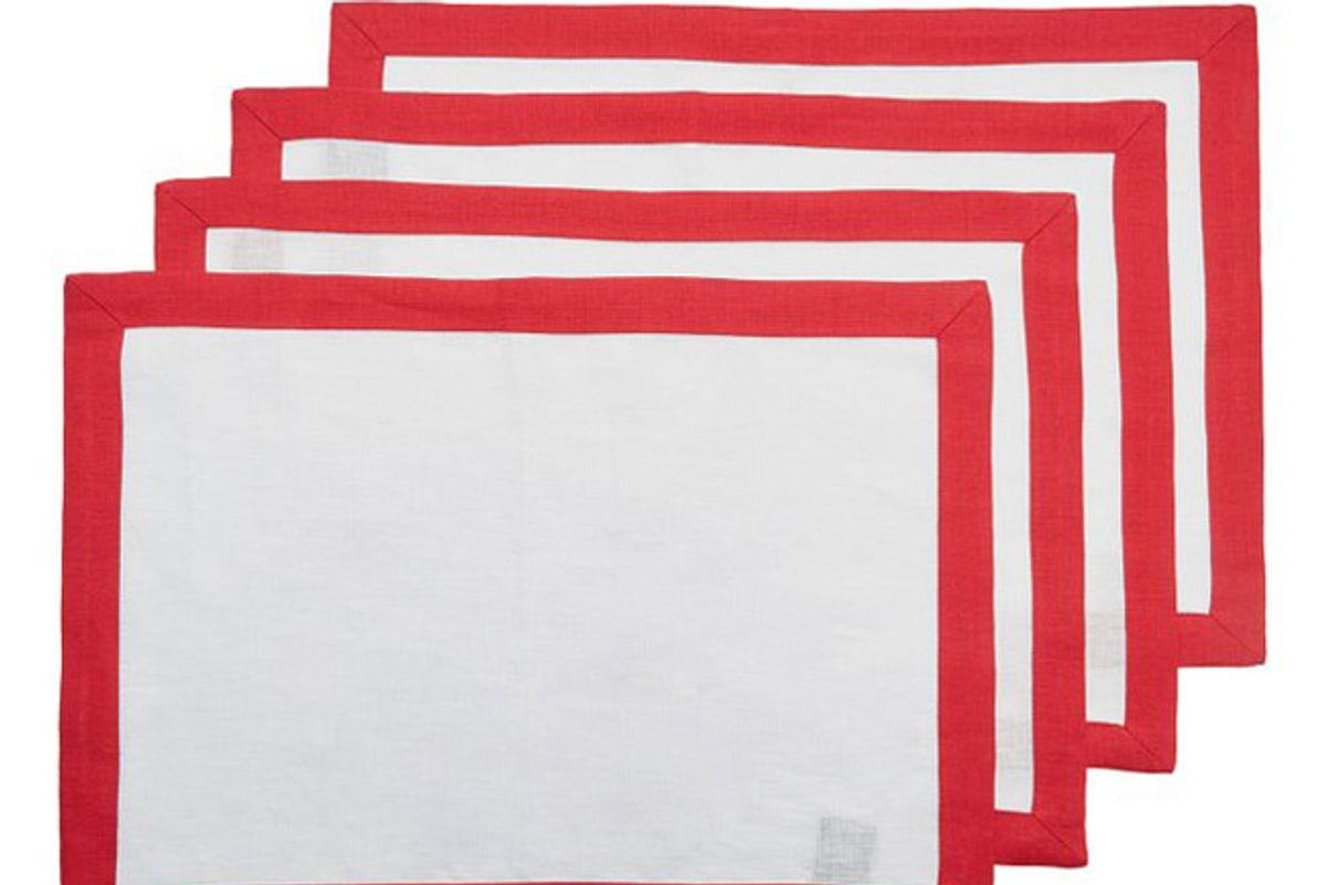 stephanie fishwick set of four two tone linen placemats