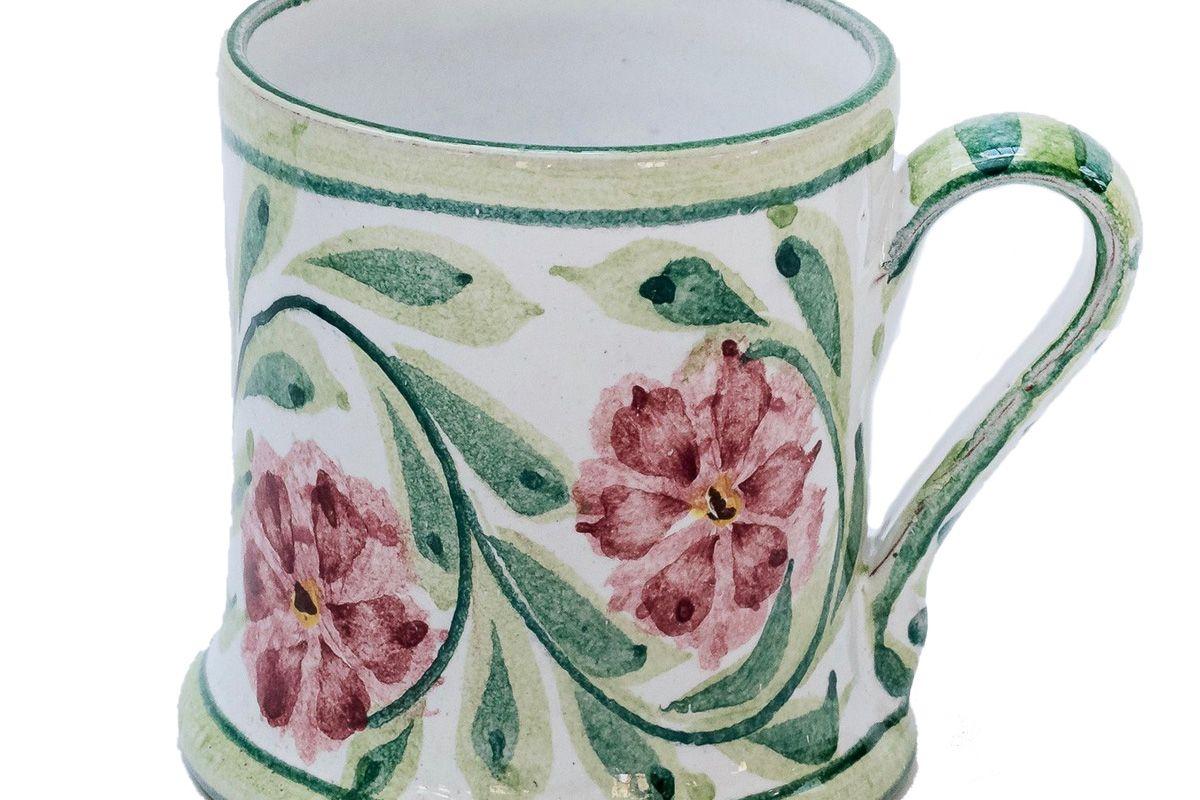 mrs alice hand painted rose mug