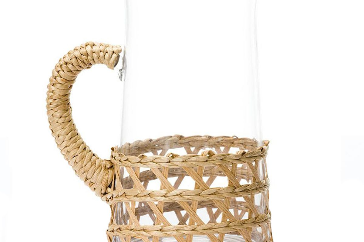amanda lindroth large island wrapped pitcher in natural