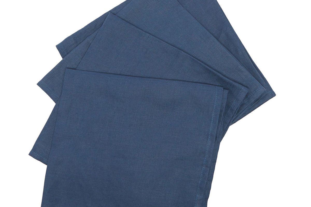 lobjet set of four linen sateen napkins