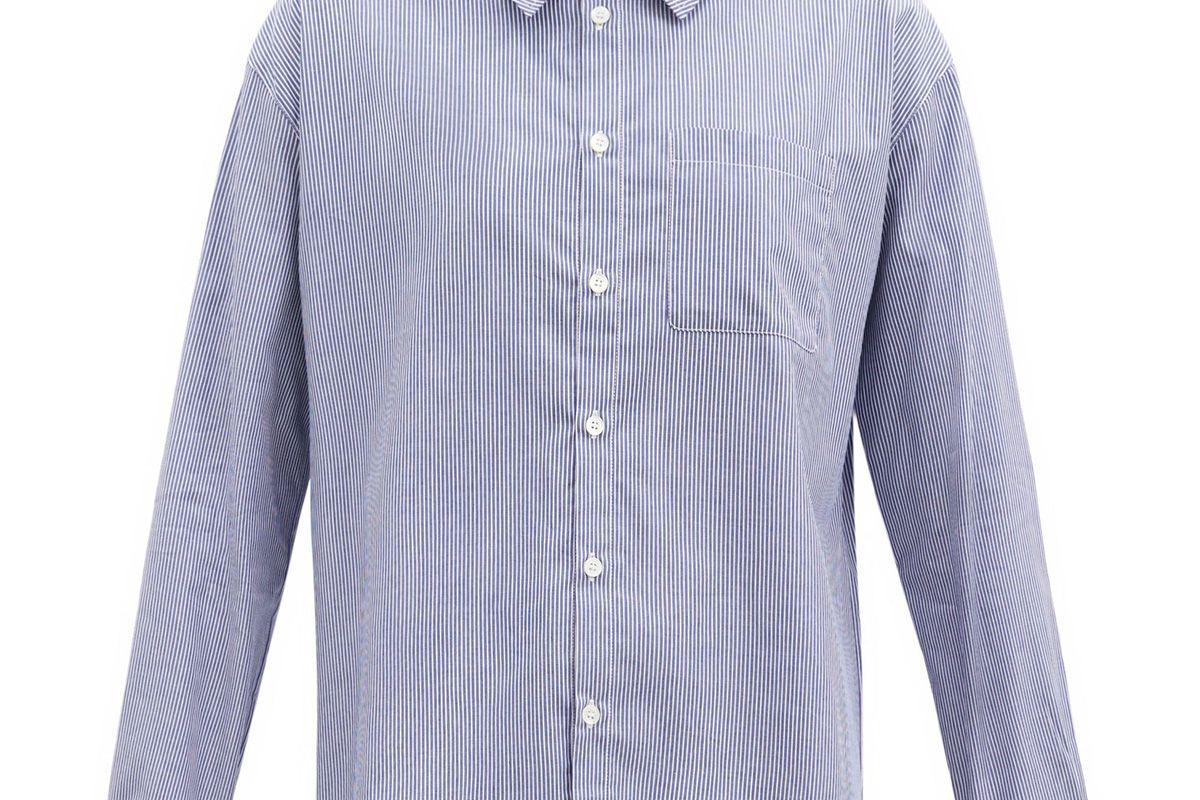 apc boyfriend striped cotton shirt