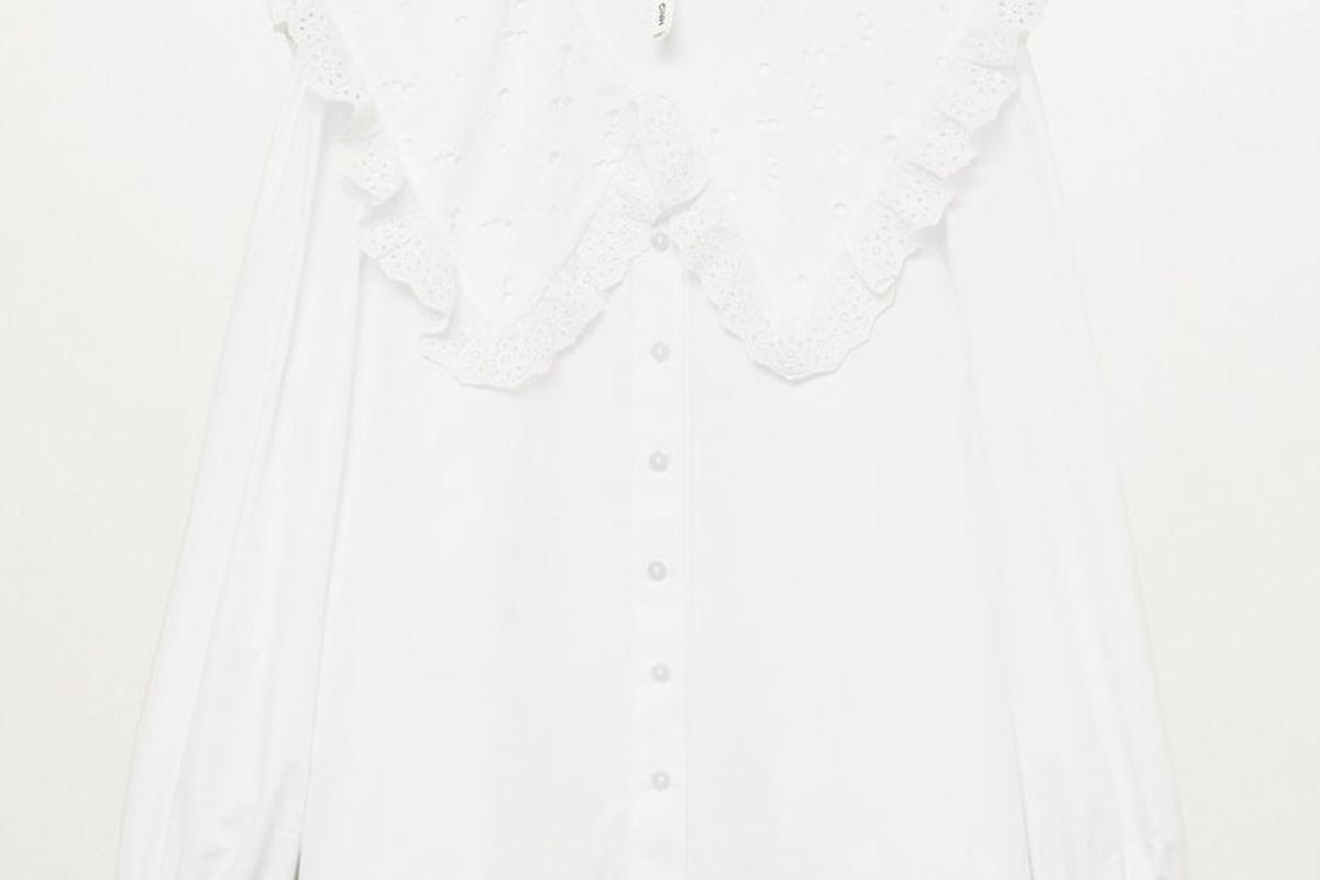 mango double baby collar shirt