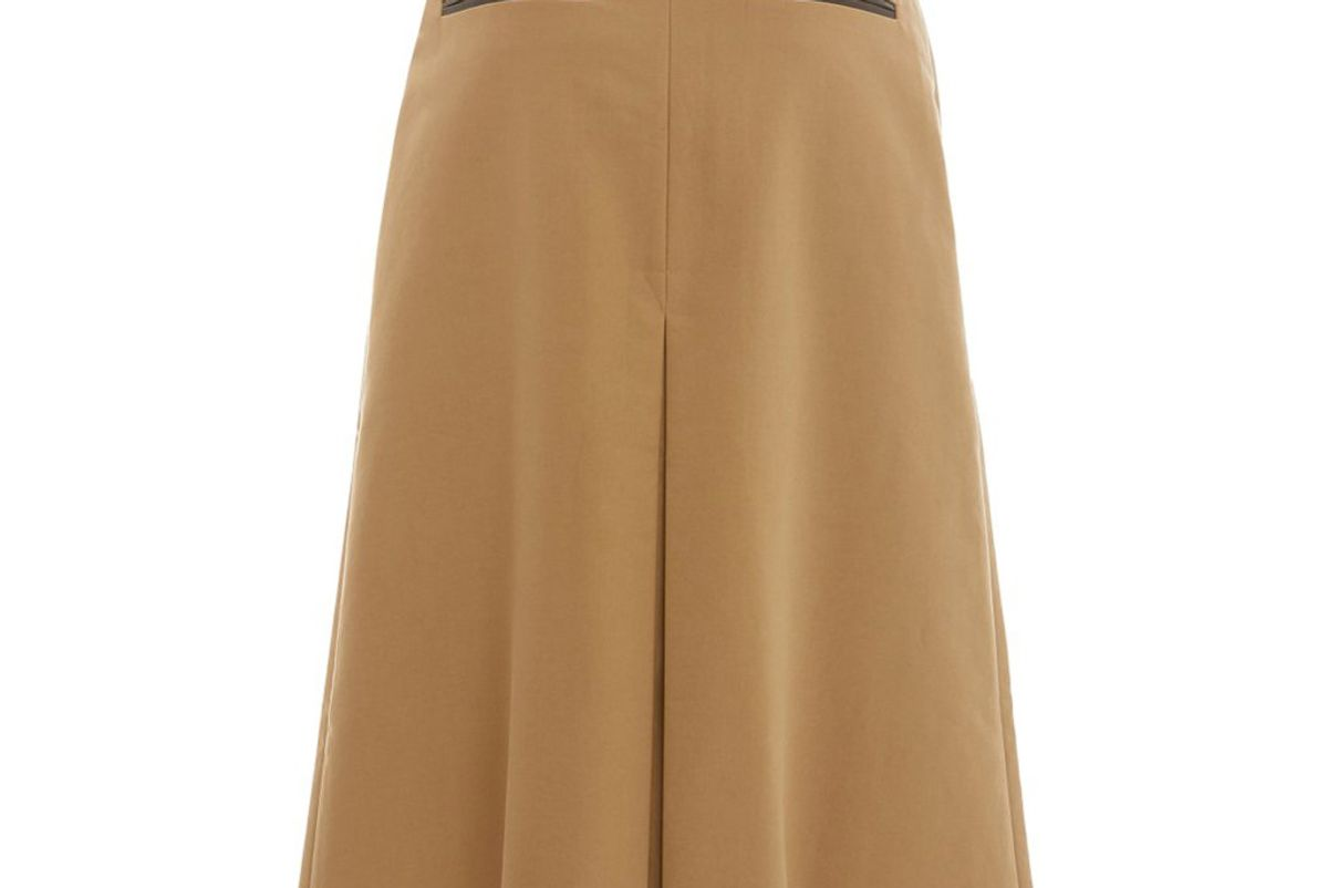 rejina pyo hazel pleated cotton midi skirt