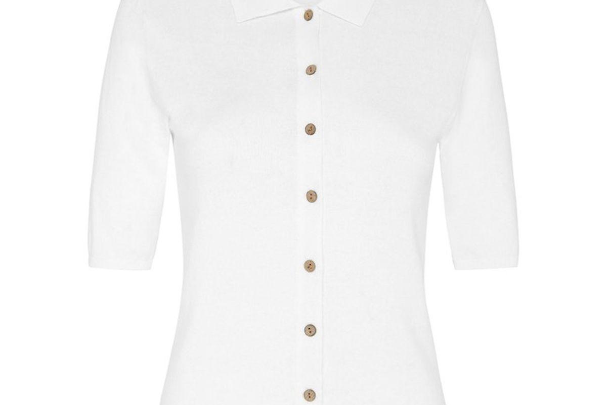 st angi chieko cotton jersey polo shirt