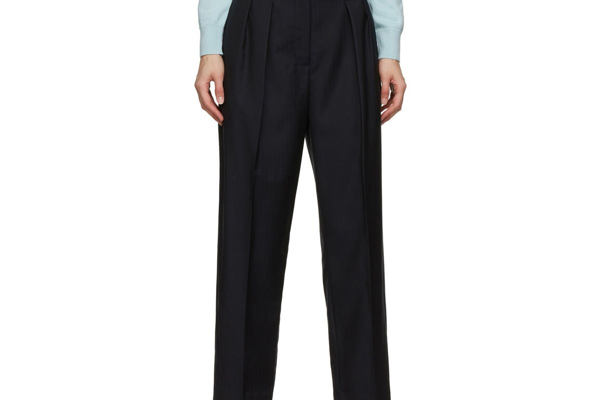 apc navy cheryl trousers