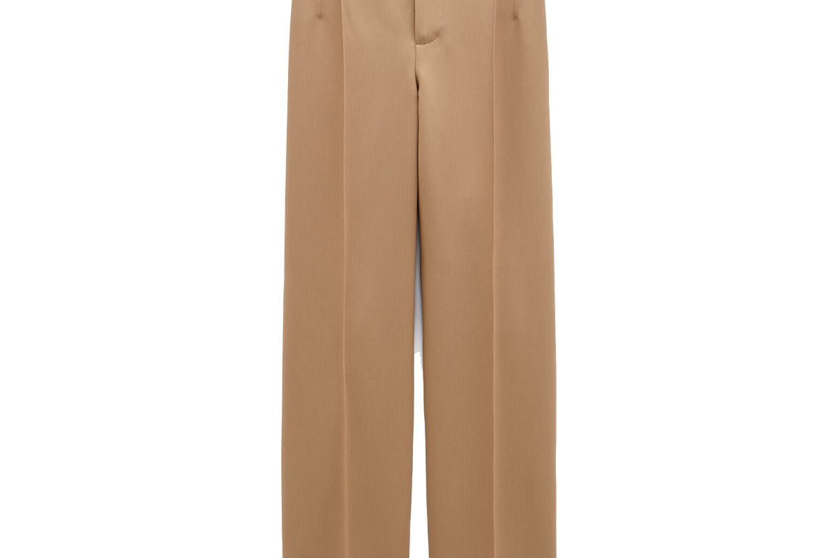 zara seamed straight leg pants