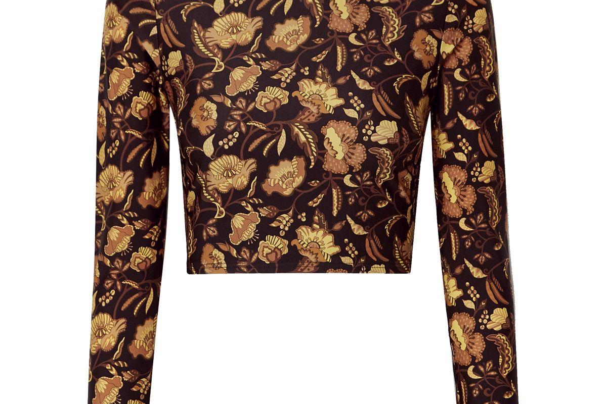 matteau floral print rash guard