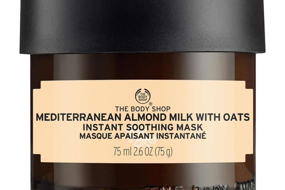 the body shop mediterranean almond milk with oat instant soothing mask