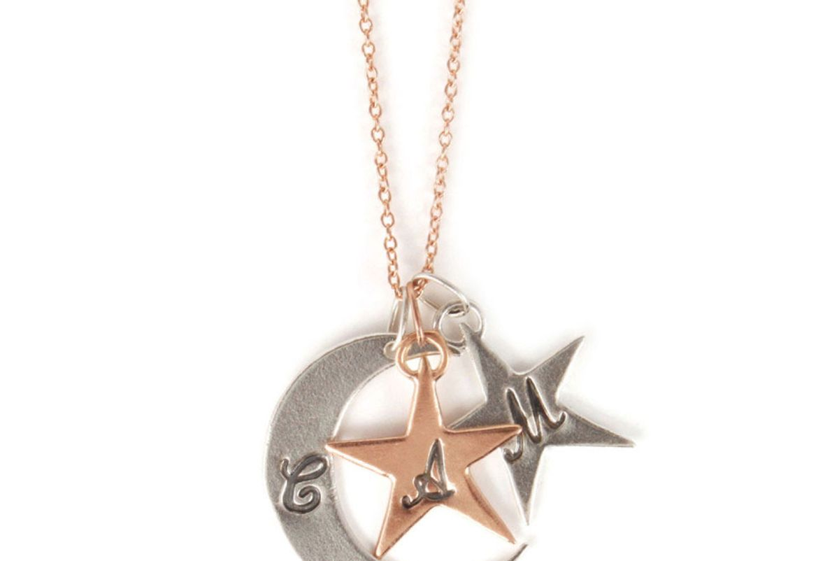 You Are My Moon and Stars Stackable Necklace