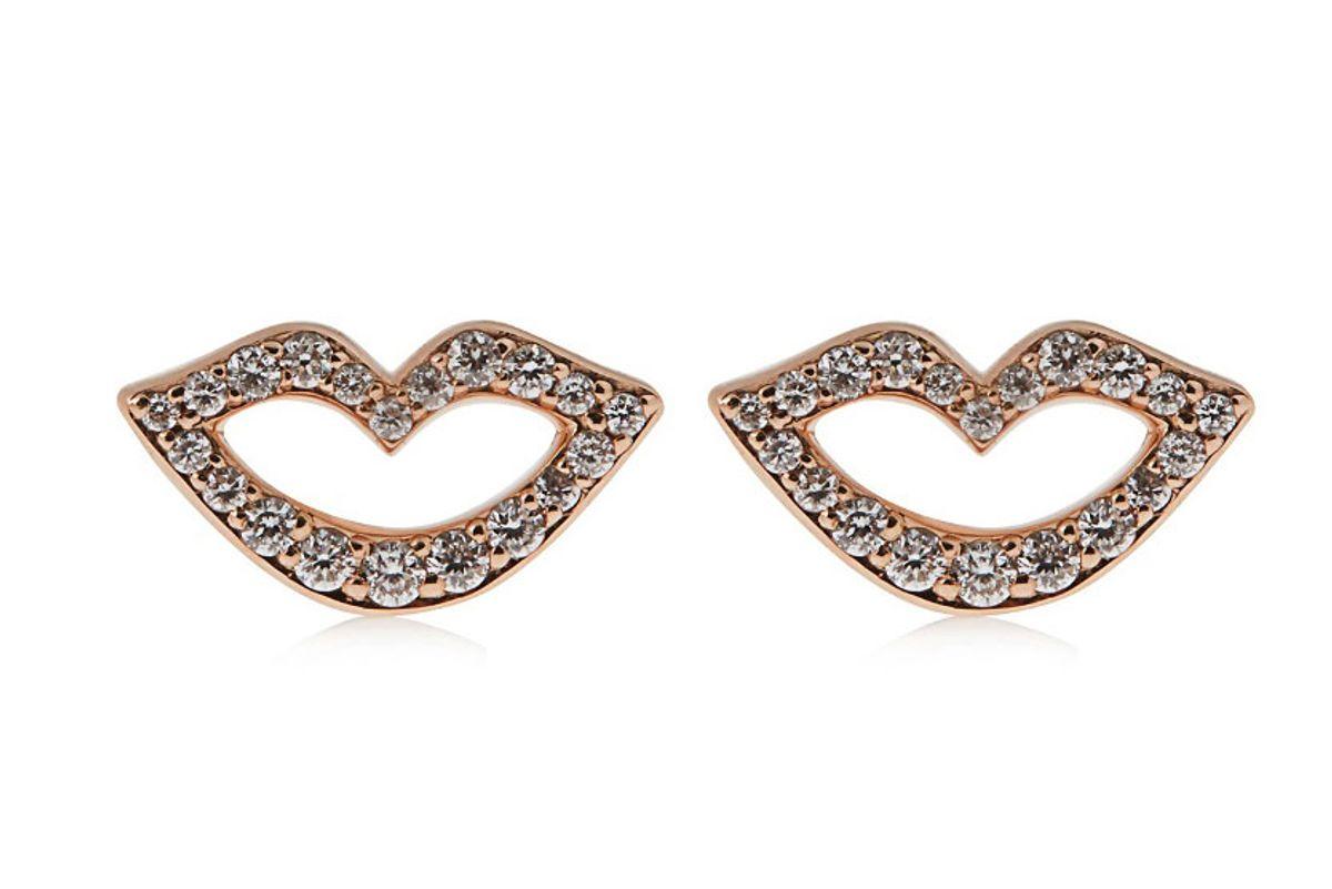 Keep Smiling Diamond & Rose-Gold Earrings