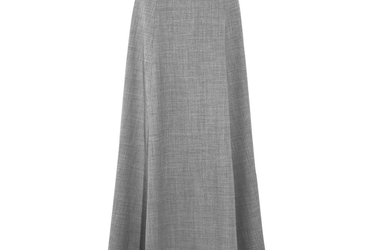 Collection Adriana Wool-Blend Flannel Maxi Skirt
