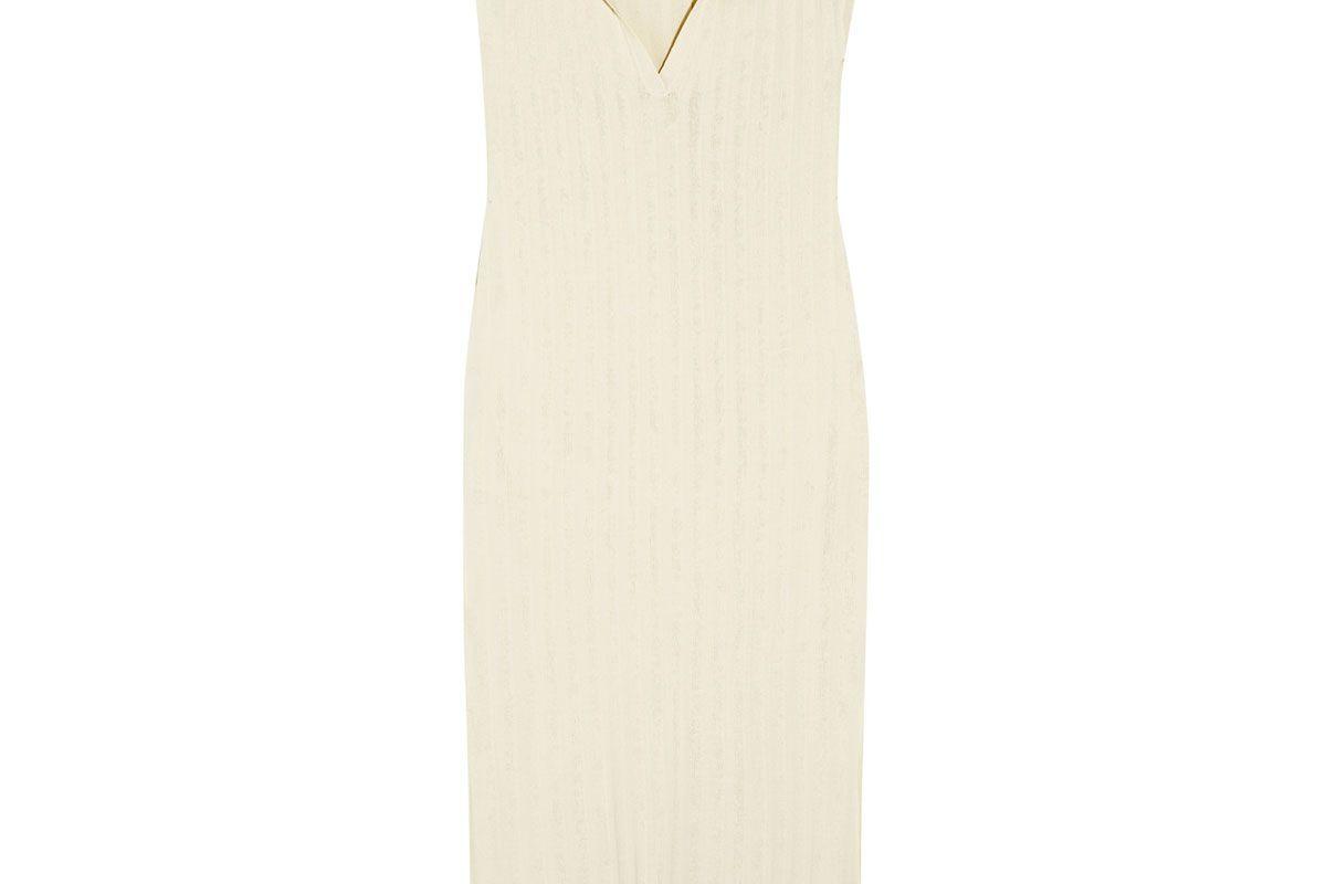 Bahia Ribbed Stretch-Knit Midi Dress