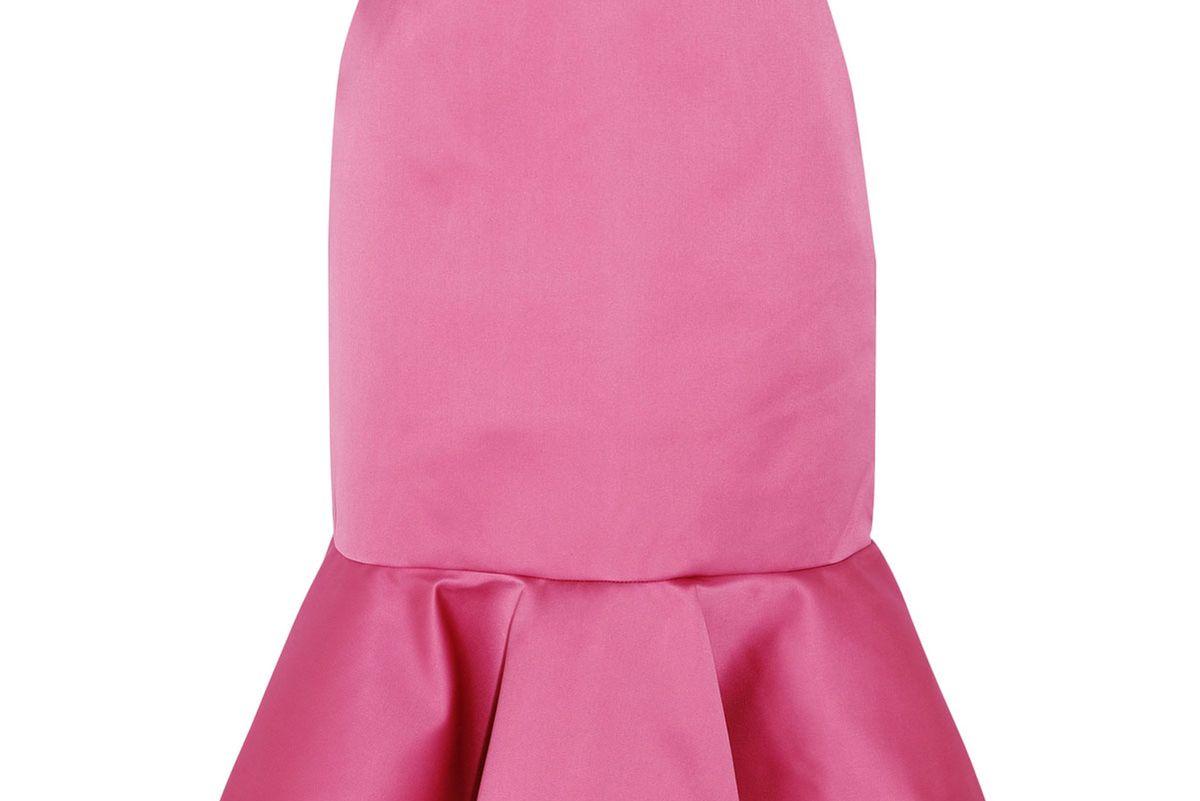 Dante Ruffled Duchesse-Satin Skirt