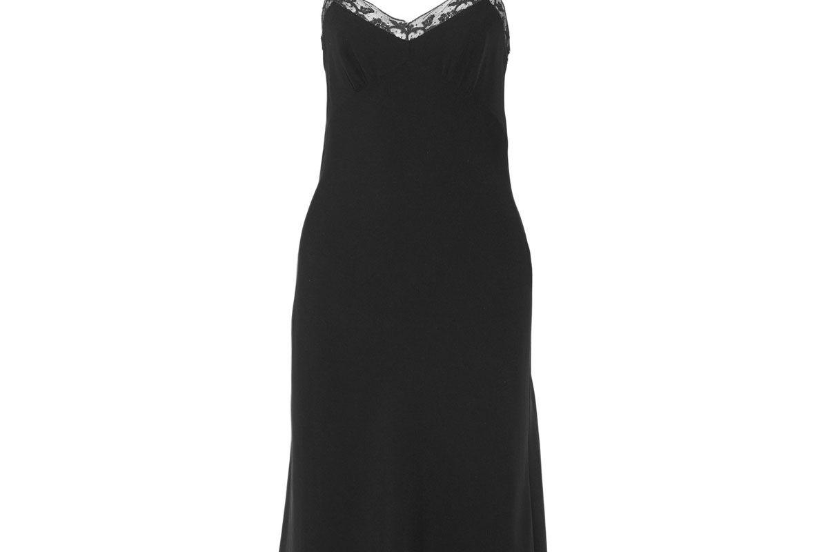 Santi Lace-Trimmed Silk-Crepe Dress