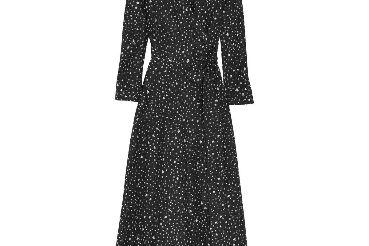 Printed Cotton and Silk-Blend Gauze Wrap Dress