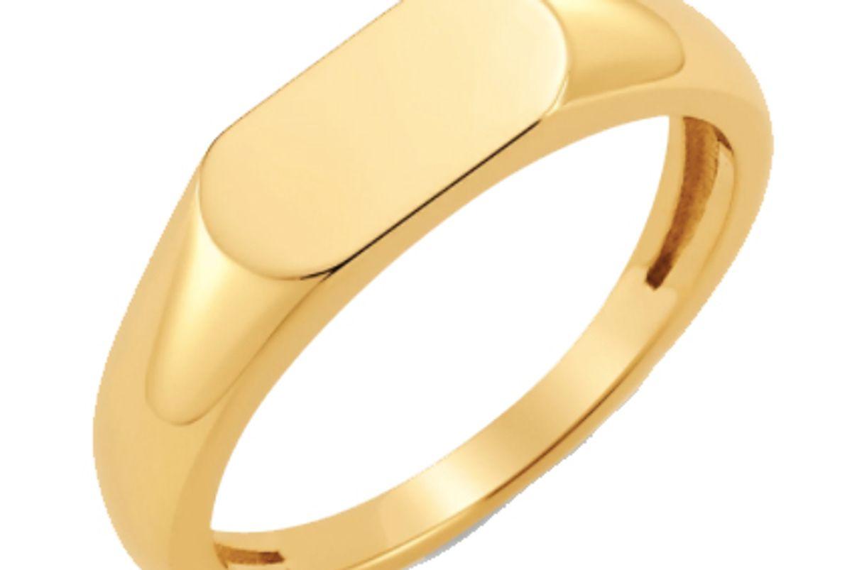babygold oval signet ring