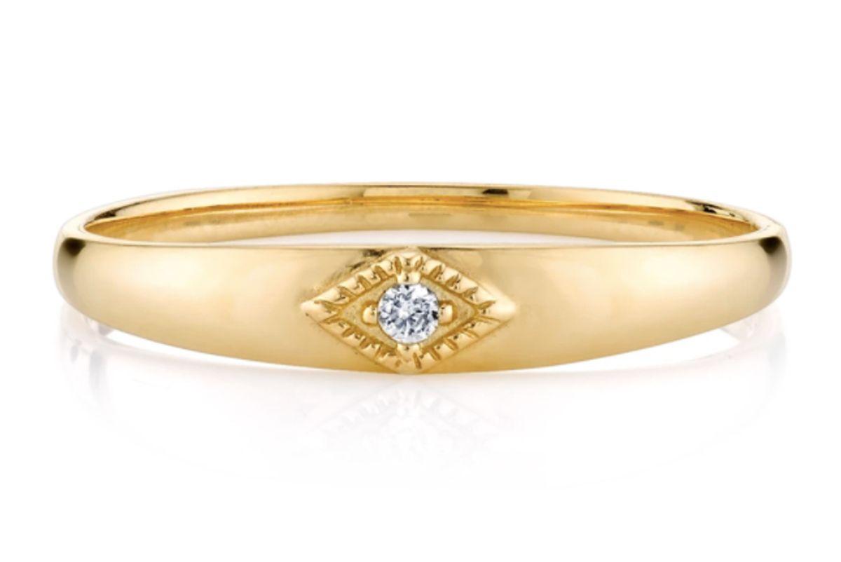the last line diamond baby ring