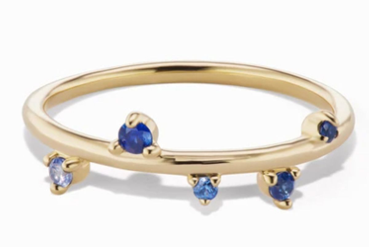 sophie ratner sapphire scatter band