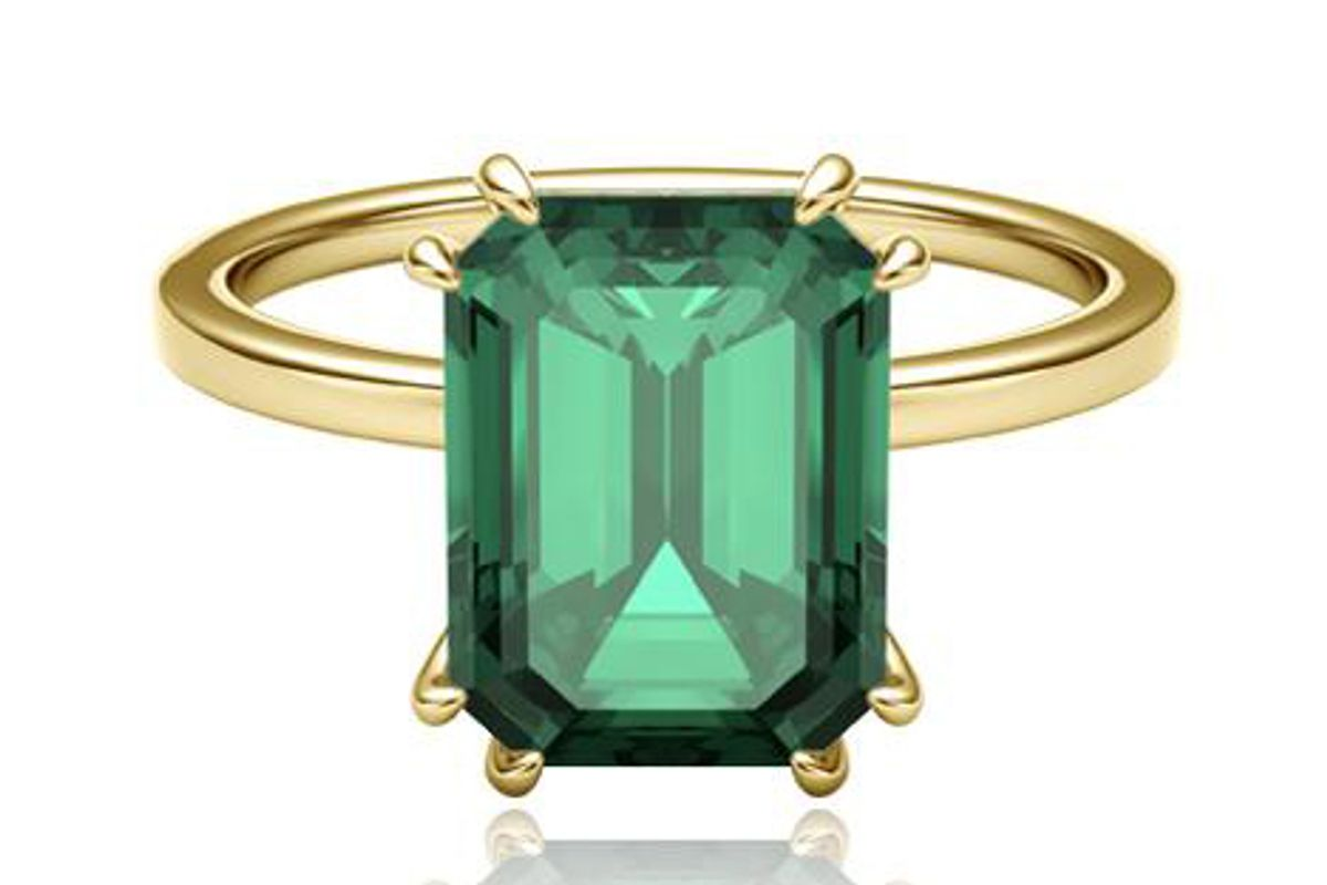 lark and berry flora emerald octad cocktail ring