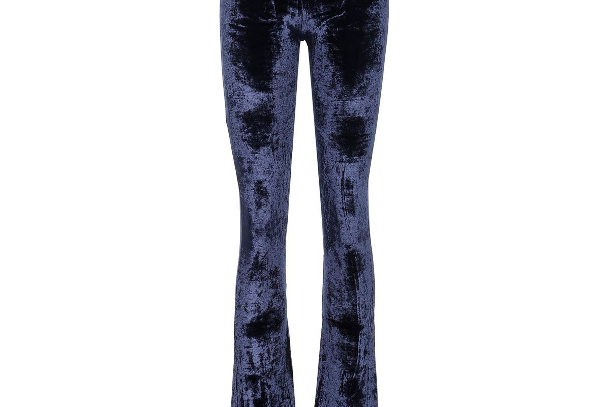 off white flared velour pants