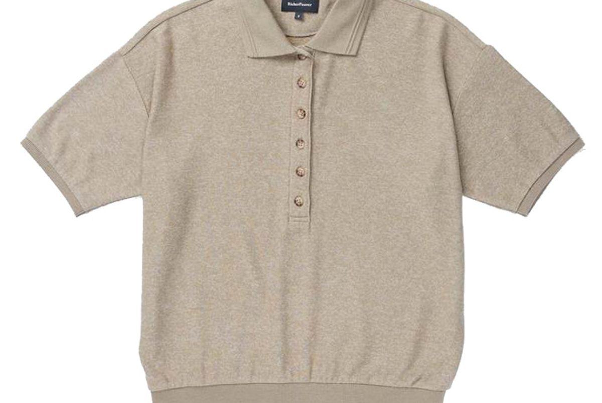 richer poorer cozy knit polo