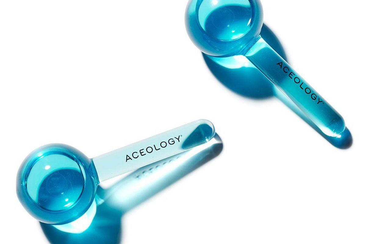 aceology blue ice globe facial massager