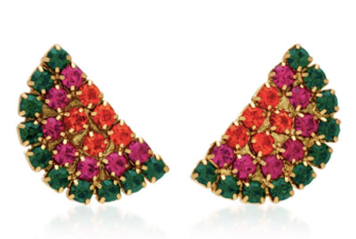 lulu frost synth crystal stud earrings