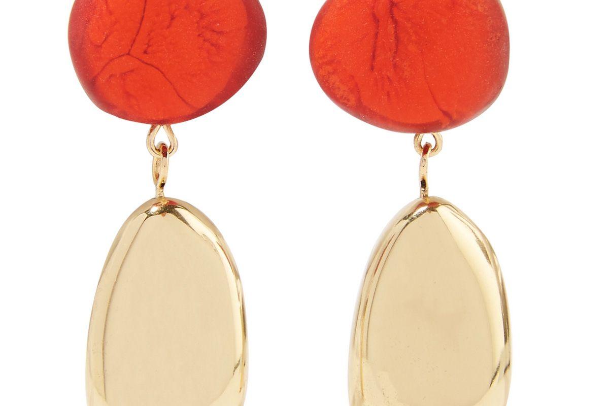 dinosaur designs gold tone resin earrings