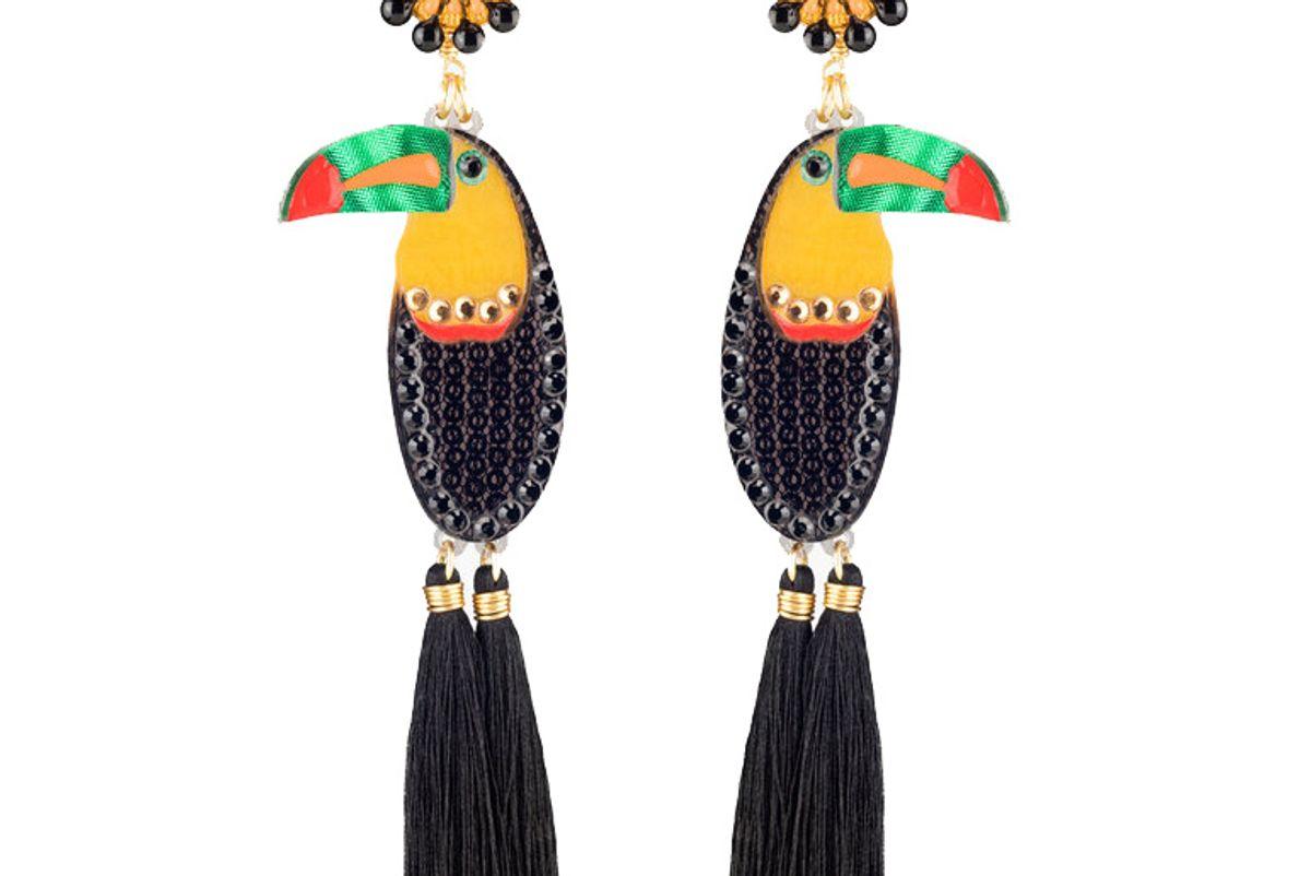 mercedes salazar keel billed toucan earrings