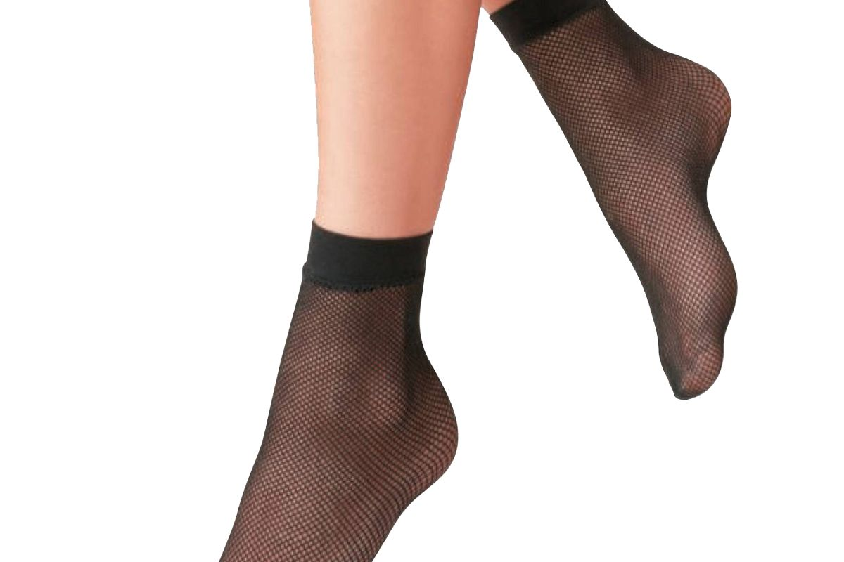 a new day womens fishnet and 2pk anklet socks