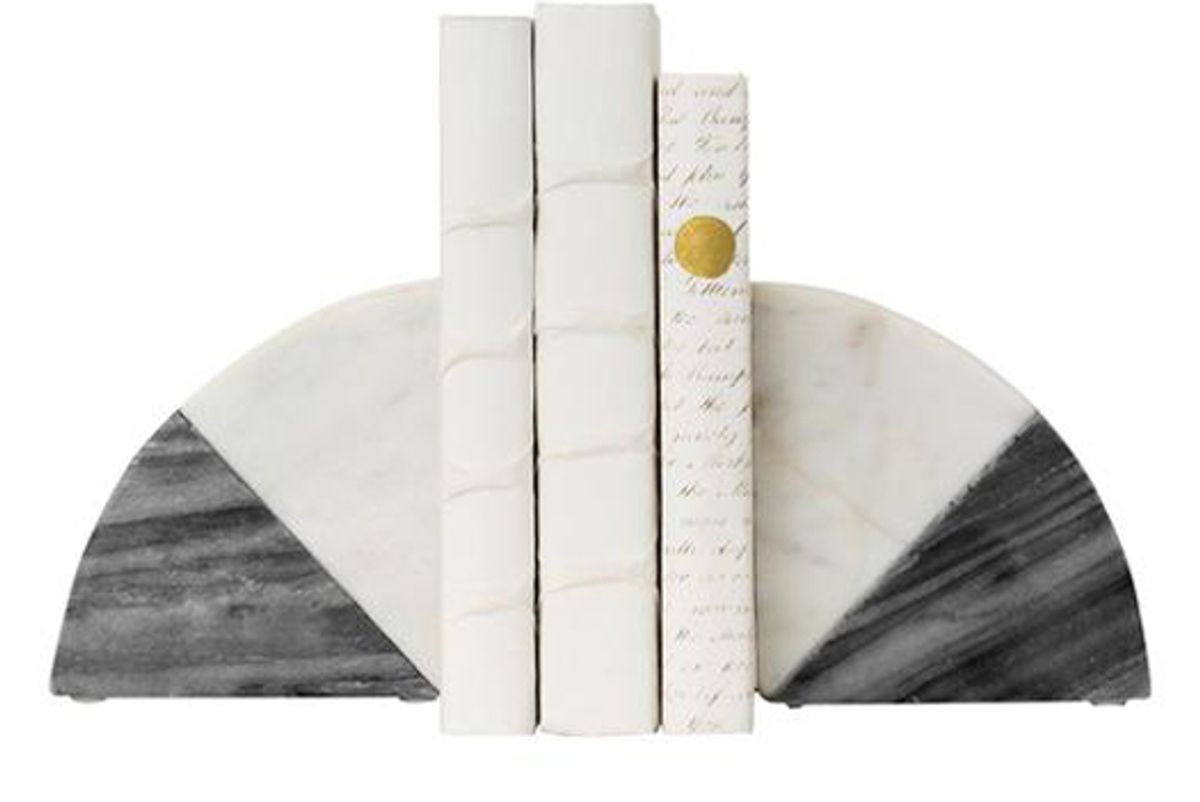 mcgee and co duotone marble bookends set of 2