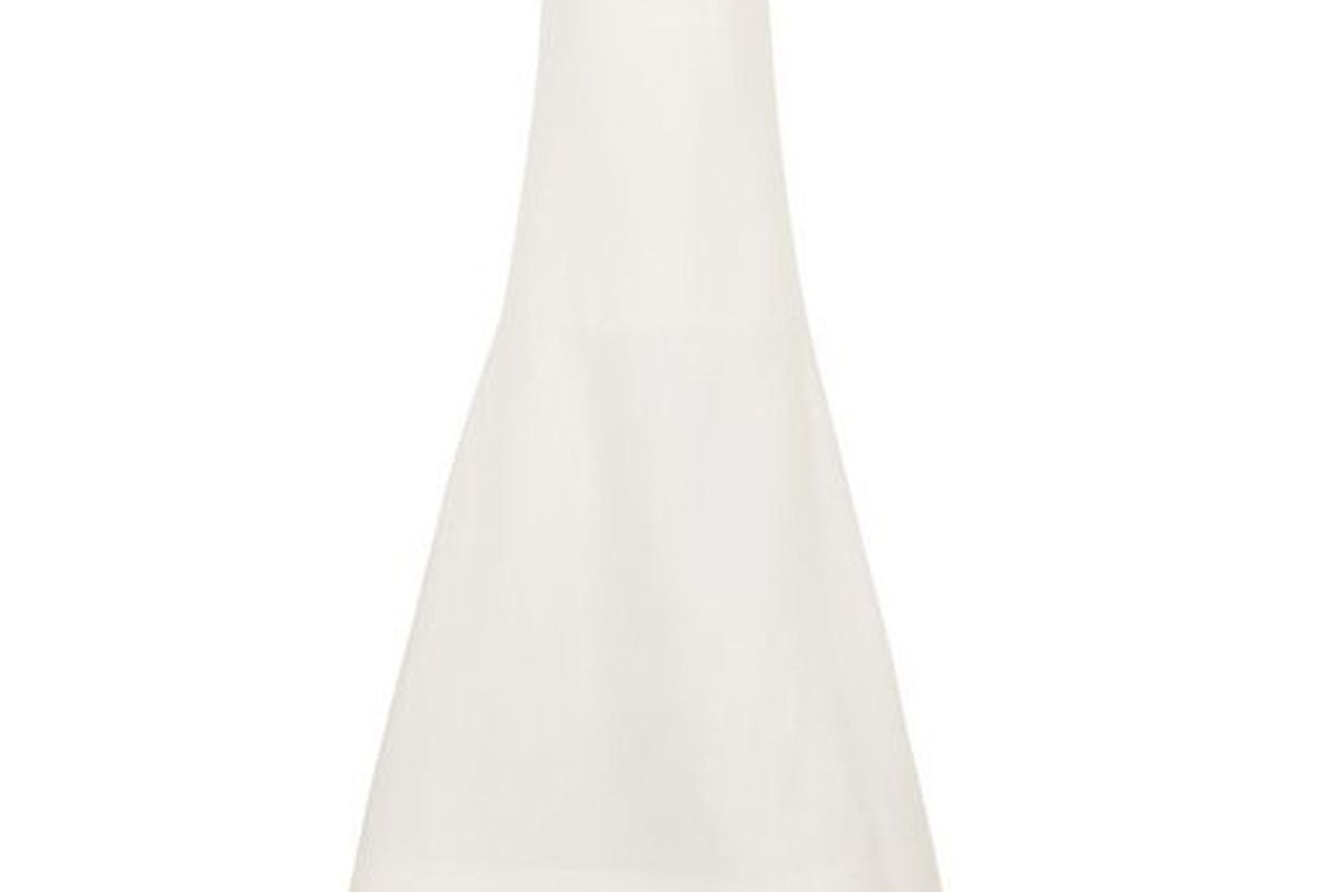roksanda maury strapless wool and silk blend gown