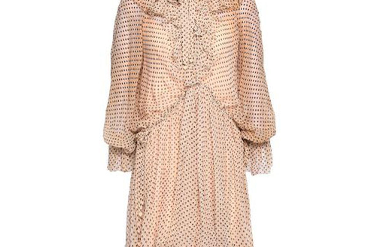 zimmermann painted heart ruffled floral print silk georgette mini dress