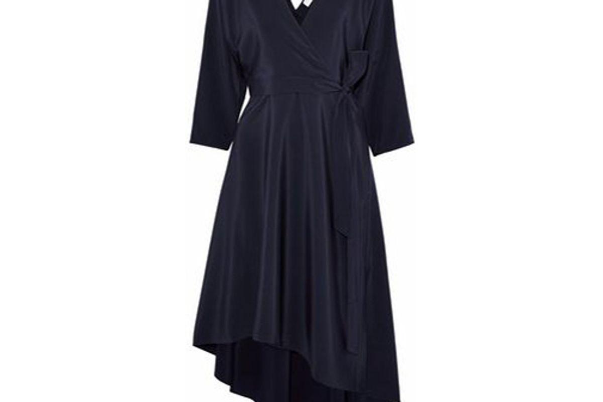 diane von furstenberg asymmetric silk charmeuse wrap dress