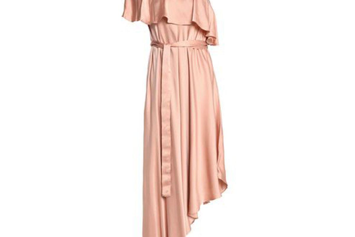 zimmerman asymmetric ruffled washed silk dress