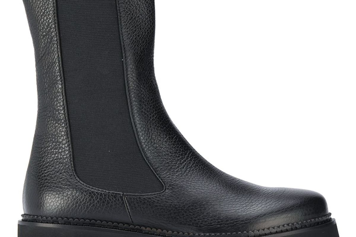societe anonyme ridged sole leather boots