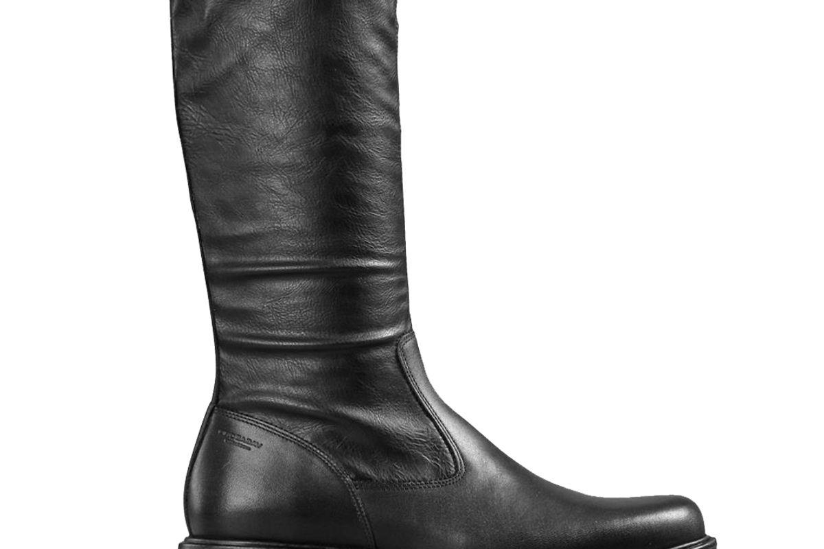 vagabond tara black leather comb boots