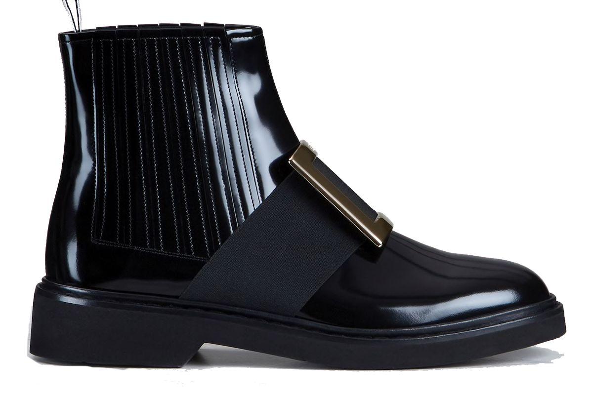 roger viver chelsea viv rangers metal buckle ankle boots