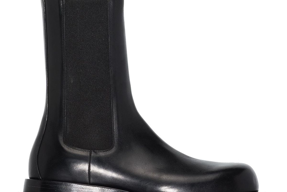 bottega veneta slip on high top boots