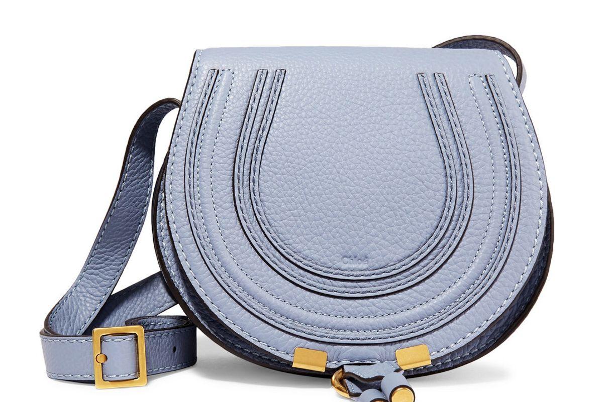 chloe marcie mini textured leather shoulder bag