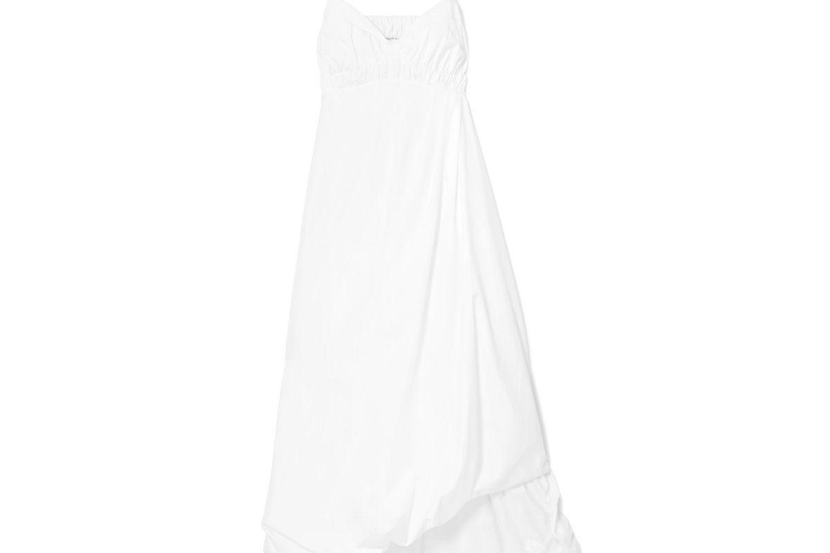 3.1 phillip lim shirred cotton poplin midi dress