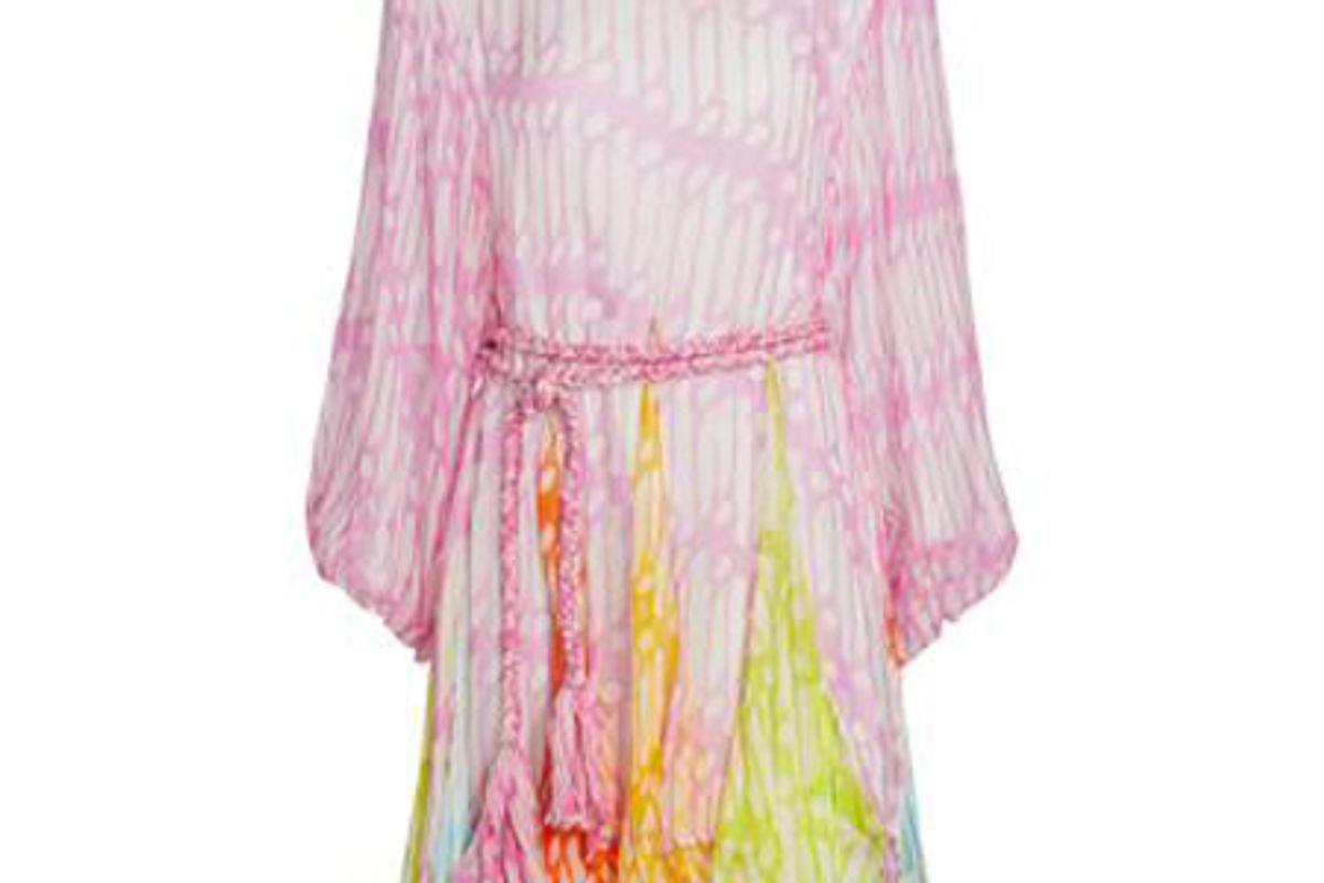 rhode ella long sleeve printed dress with belt