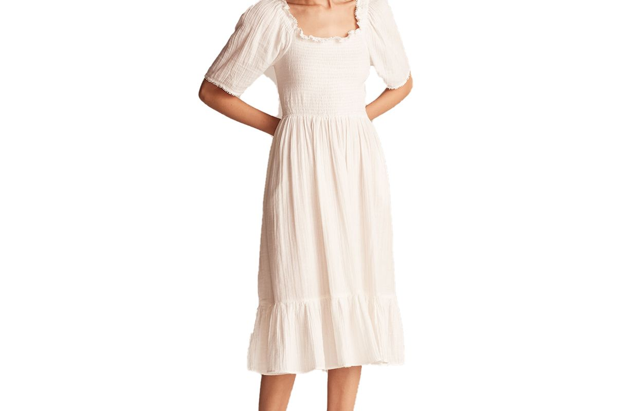 rabecca taylor la vie smocked gauze dress