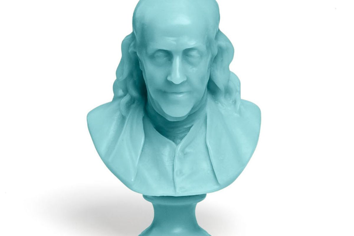 cire trudon benjamin franklin bust candle