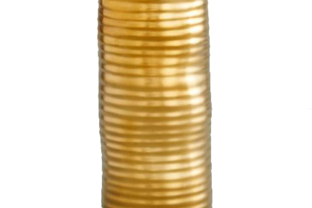west elm molten brass metal vase