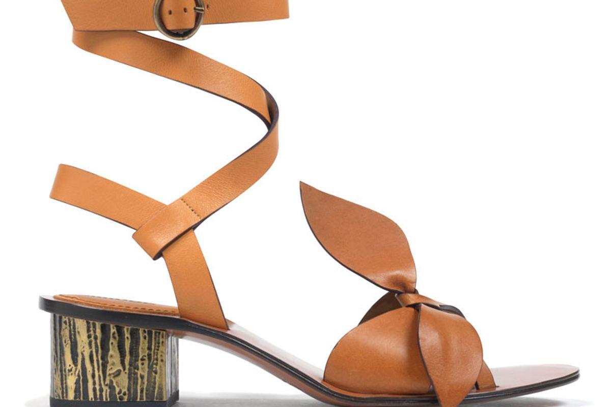 Bow-Detailed Embellished Leather Sandals