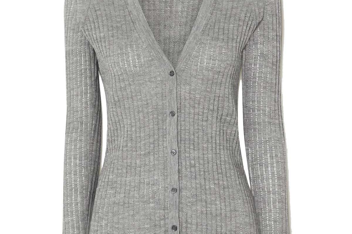 gabriela hearst emma pointelle knit cashmere and silk blend cardigan