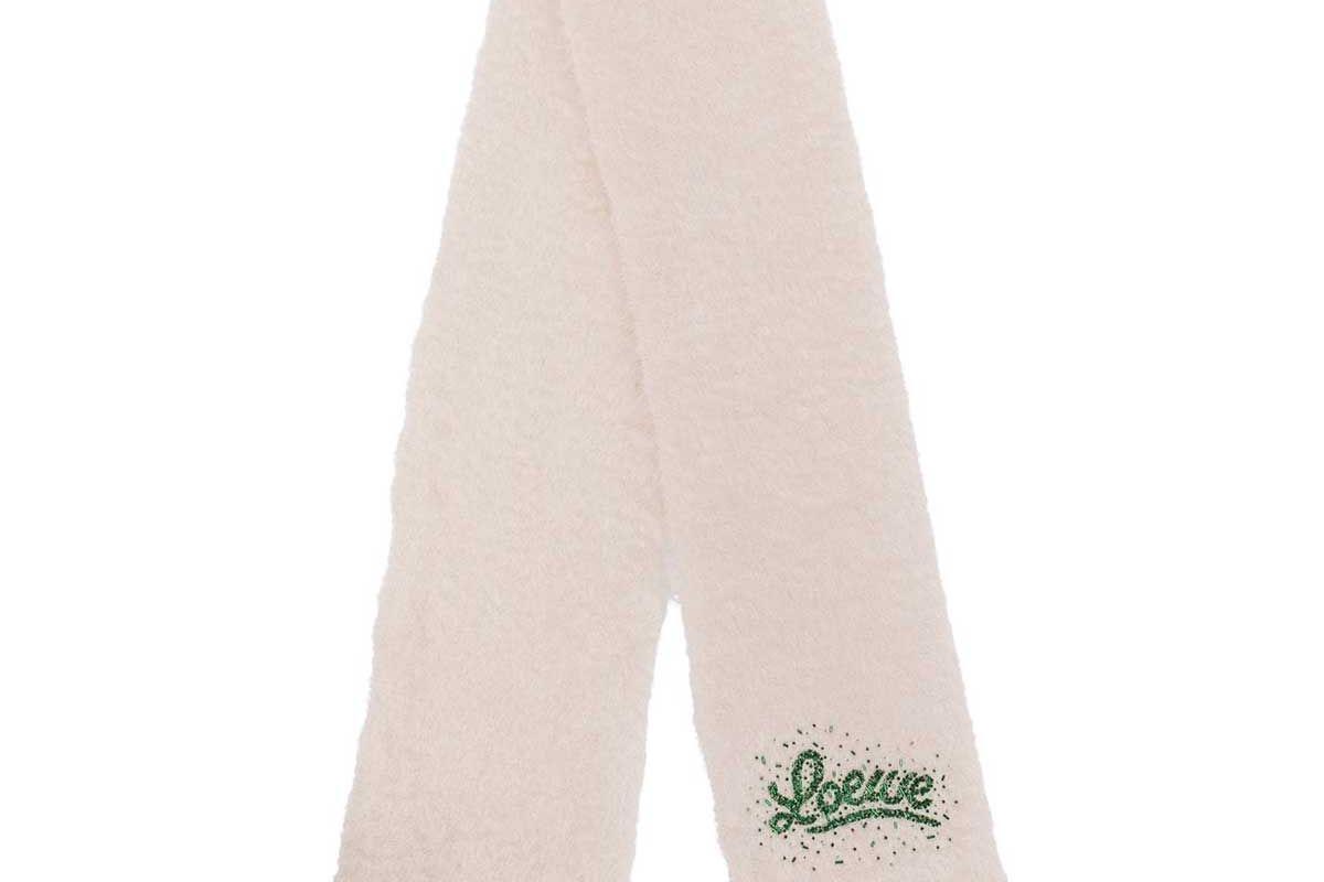 loewe bead embellished mohair blend scarf